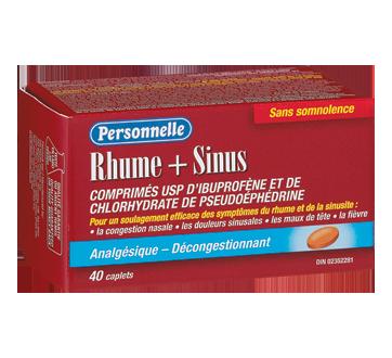 Image du produit Personnelle - Rhume et sinus comprimés d'ibuprophène