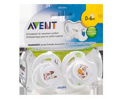 Image du produit Avent - Suces orthodontiques sans BPA, 2 unités