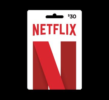 Carte-cadeau Netflix de 30$, 1 unité
