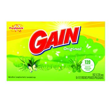 Image 2 du produit Gain - Feuilles assouplissantes avec FreshLock, 120 feuilles, original