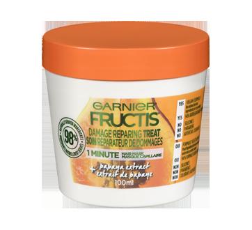 Fructis masque capillaire soin réparateur de dommages, 100 ml, papaye