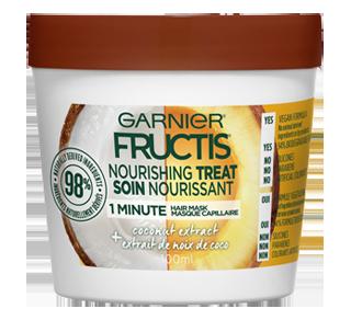 Fructis masque capillaire soin nourrissant, 100 ml, noix de coco