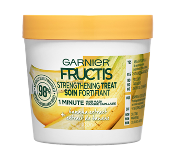 fructis masque capillaire soin fortifiant 100 ml banane garnier traitement jean coutu. Black Bedroom Furniture Sets. Home Design Ideas