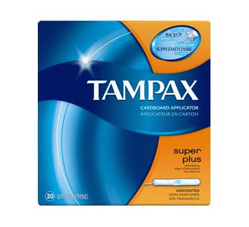 Tampax tampons avec applicateur en carton Super Plus, 20 unités