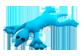 Vignette 2 du produit manimo - Tortue lourde 2 en 1, 1 unité, turquoise