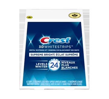 Bandes 3D White Whitestrips Suprême FlexFit, 21 unités