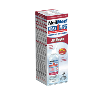 Image 1 du produit NeilMed - Nasa Mist solution saline en vaporisateur jet moyen, 177 ml