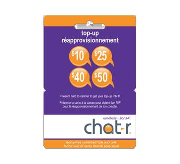 Chat R Mobile carte de réapprovisionnement de 40 $, 1 unité