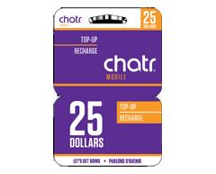 Image du produit Incomm - Cartes prépayées pour cellulaires chatr sans-fil 25 $, 1 unité