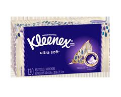 Image du produit Kleenex - Mouchoirs ultra doux, 120 unités , blanc