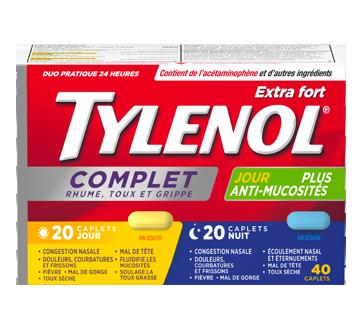 Image 1 du produit Tylenol - TylenolComplet Rhume, Toux et Grippe extra fort formules jour/nuit, 40 unités