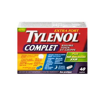 Image 3 du produit Tylenol - TylenolComplet Rhume, Toux et Grippe extra fort formules jour/nuit, 40 unités