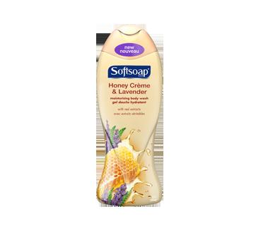 Gel douche hydratant, 532 ml, miel, crème et lavande