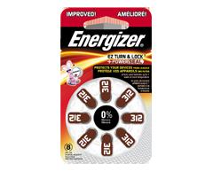 Image du produit Energizer - Piles pour prothèses auditives, 8 piles, AZ312DP8
