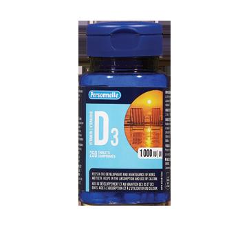 Image du produit Personnelle - Vitamine D3 1000 iu, 250 unités