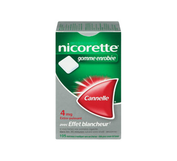 Image 3 du produit Nicorette - Nicorette gomme, 105 unités, 4 mg, cannelle