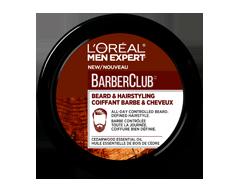 Image du produit L'Oréal Paris - Men Expert BarberClub crème coiffante barbe & cheveux, 75 ml
