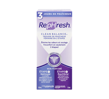 Clean Balance trousse de fraicheur féminine en 2 étapes, 1 unité