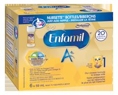 Image du produit Enfamil A+ - Enfamil A+ biberons prêts à servir, 6 x 59 ml