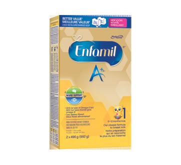 Enfamil A+ recharge de préparation lactée, 2 x 496 g