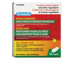Image du produit Personnelle - Médicament pour les sinus soulagement pour le jour extra fort, 24 caplets