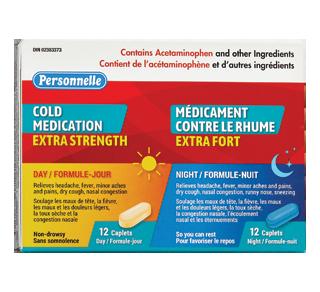 Médicament pour le rhume extra fort, 12 + 12 unités