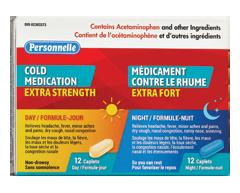 Image du produit Personnelle - Médicament pour le rhume extra fort, 12 + 12 caplets