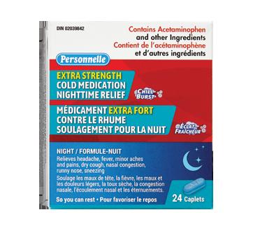 Image du produit Personnelle - Médicament contre le rhume extra fort, nuit, 24 unités