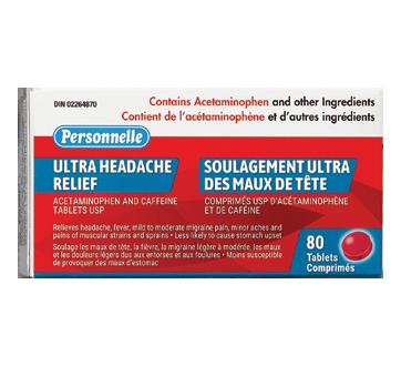 Image du produit Personnelle - Soulagement ultra-puissant des maux de tête, 80 unités