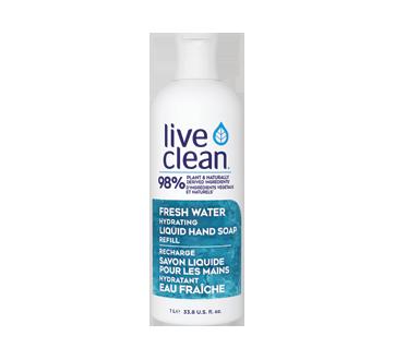 Fresh Water recharge savon liquide pour les mains hydratant, 1 L