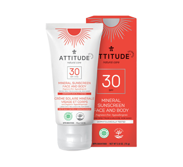 Crème solaire visage SPF 30, sans fragrance