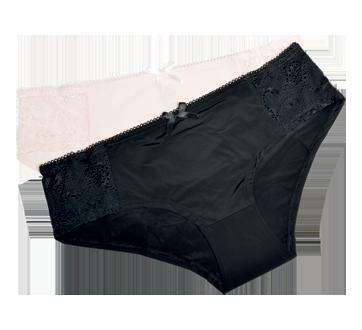 Culottes bikini en dentelle pour femme, 2 unités, moyen
