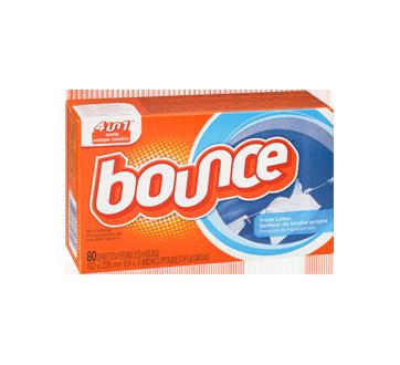 Image 2 du produit Bounce - Feuilles assouplissantes, 80 unités, lessive propre