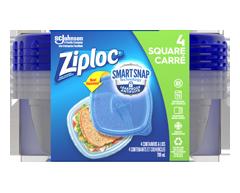 Image du produit Ziploc - Petits contenants carrés, 4 unités