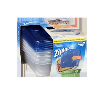Image 2 du produit Ziploc - Petits contenants carrés, 4 unités
