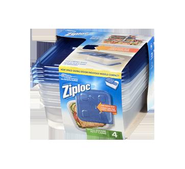 Image 3 du produit Ziploc - Petits contenants carrés, 4 unités