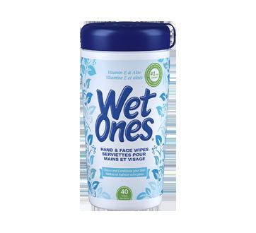 Lingettes à la vitamine E et aloès , 40 unités