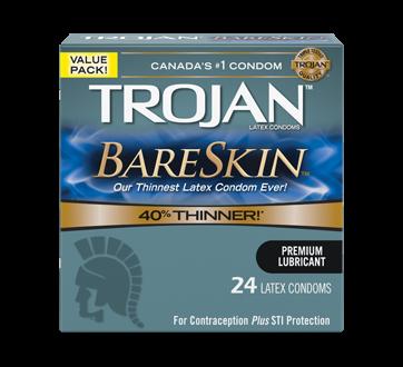 Image 1 du produit Trojan - Bareskin condoms lubrifiés, 24 unités