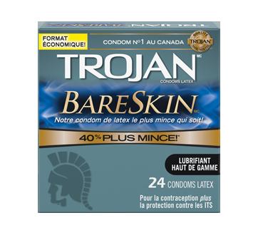 Image 2 du produit Trojan - Bareskin condoms lubrifiés, 24 unités