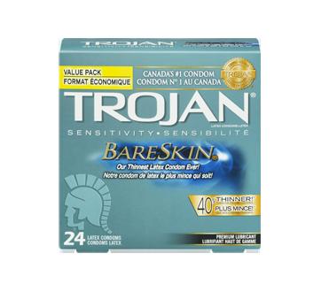Image 3 du produit Trojan - Bareskin condoms lubrifiés, 24 unités