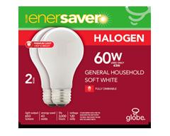 Image du produit Globe Electric - Ampoule halogène, 650 lumens. 3,000 heures vie