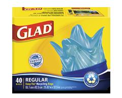 Image du produit Glad - Sacs à ordures ordinaires à nœud facile pour la récupération, 40 unités
