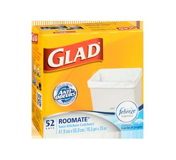 Image 2 du produit Glad - Très petits sacs à ordures blancs, senteur fraîche et propre de Febreze, 52 unités