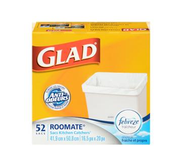 Image 3 du produit Glad - Très petits sacs à ordures blancs, senteur fraîche et propre de Febreze, 52 unités