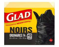 Image du produit Glad - Sacs à ordures ordinaires à nœud facile, 40 unités
