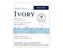 Image du produit Ivory - Pains de savon format personnel, 10 x 90 g, original