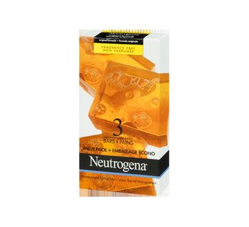 Image 1 du produit Neutrogena - Pain nettoyant facial, emballage de 3 pains, 100 g
