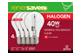 Vignette du produit Globe Electric - Ampoule halogène, 4 unités, 375 lumens, 3,000 heures de vie