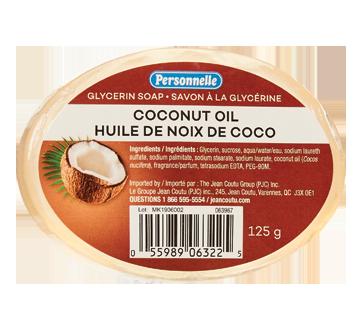 Savon à la glycérine, 125 g, huile de noix de coco