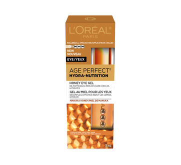 Image 2 du produit L'Oréal Paris - Age Perfect Hydra-Nutrition gel au miel pour les yeux, pour peau mature et très sèche, anti-âge, 15 ml, miel de manuka